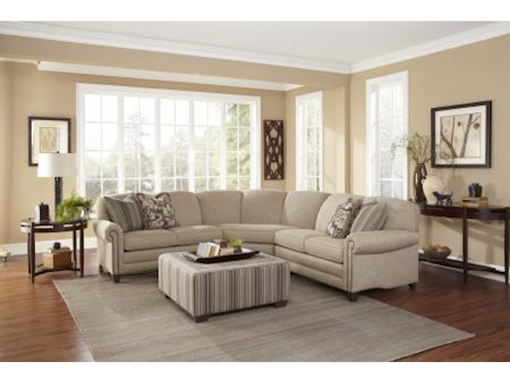 Smith Brothers Living Room 397 Sectional Bartlett Home