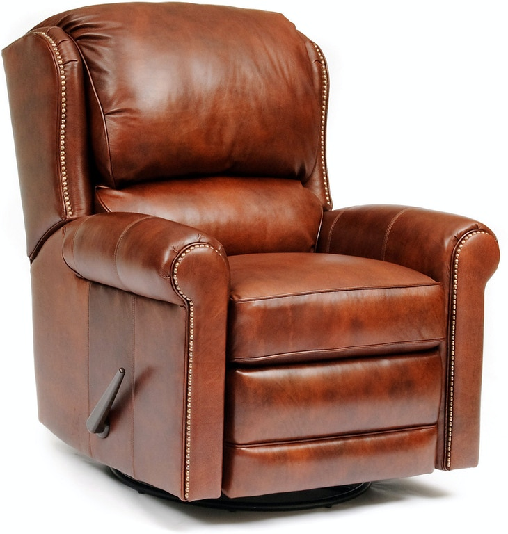 Smith Brothers Living Room Garvin Leather Swivel Glider