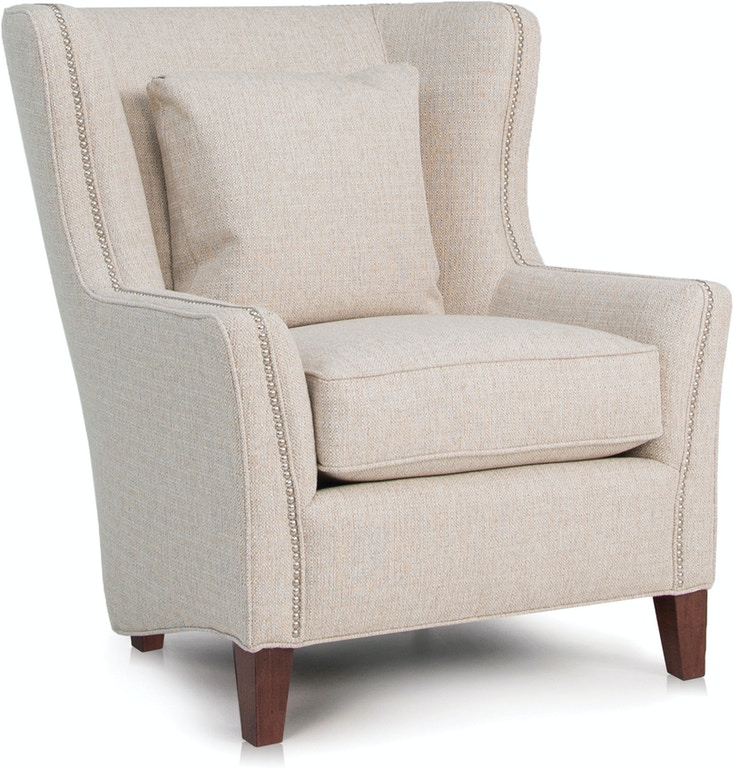 Smith Brothers Living Room Wing Chair 825-30 - Dewey Furniture ...