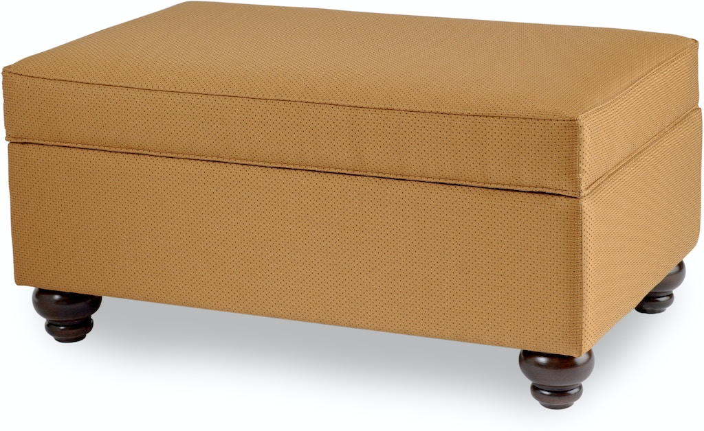 Smith Brothers Living Room Storage Ottoman With Turned Leg