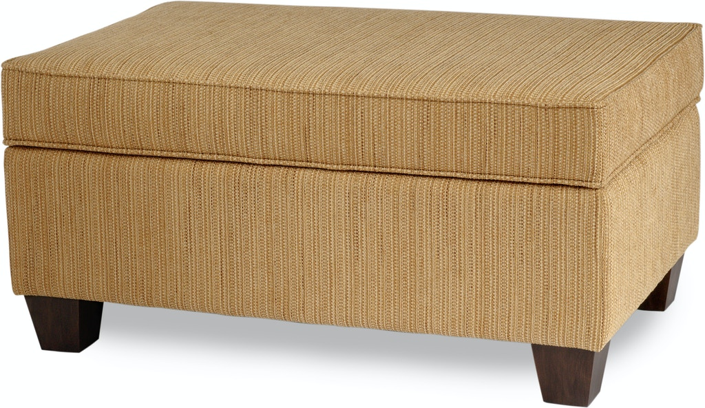 Smith Brothers Living Room Storage Ottoman With Tapered Leg 900-61 ...