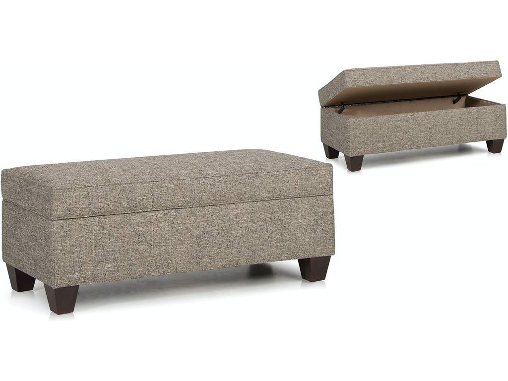 Smith Brothers Living Room Storage Ottoman With Tapered Leg ...