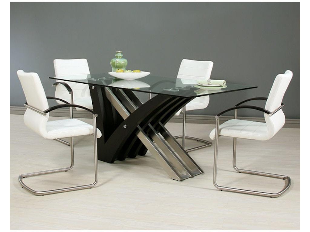 Pastel furniture dining room akasha dining set ak 512 7042 for Design source furniture az