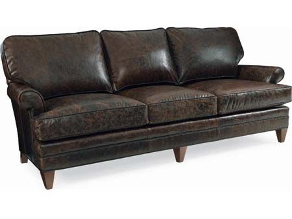 Cr Laine Living Room Klein Leather Sofa L4400 Quality Furniture Murfreesboro Tn