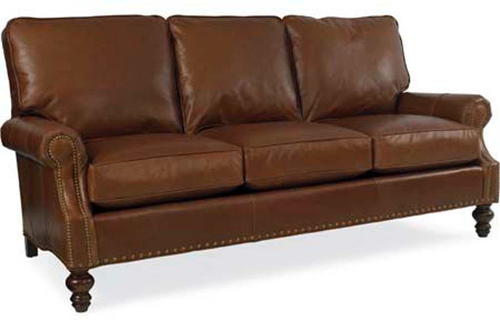 Fabulous Cr Laine Living Room Leather Sofa L6990 Hickory Furniture Home Interior And Landscaping Ologienasavecom
