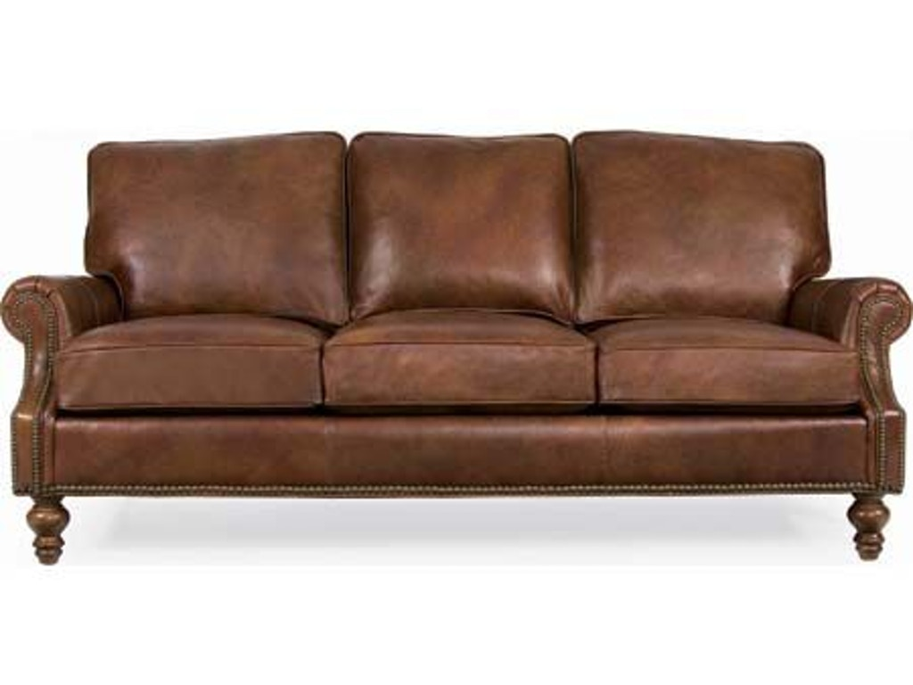 Cr laine living room peyton leather sofa l6990 hickory for Leather sectional sofa mart