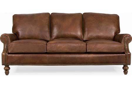 CR Laine Peyton Leather Sofa L6990