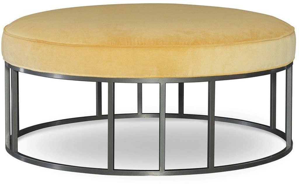 Excellent Cr Laine Living Room Metal Base Round Ottoman 9407 07 Caraccident5 Cool Chair Designs And Ideas Caraccident5Info