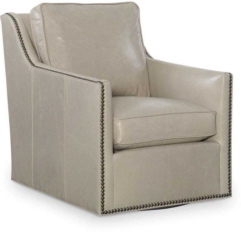 Larren Grey Living Room Leather Swivel Chair L2588-05SW ...
