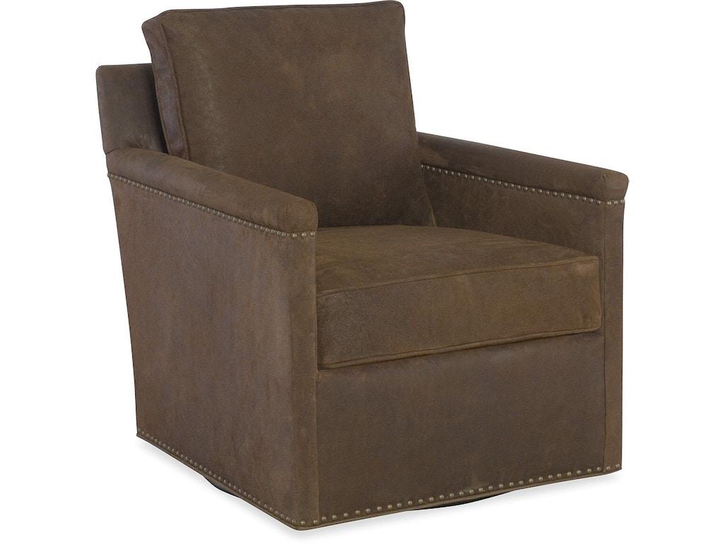Larren Grey Living Room Brooklyn Leather Swivel Chair L535