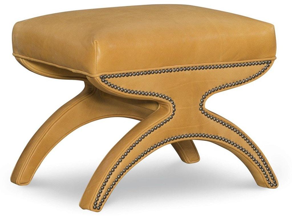 Super Leathercraft Furniture Living Room Milana Ottoman 503 Machost Co Dining Chair Design Ideas Machostcouk