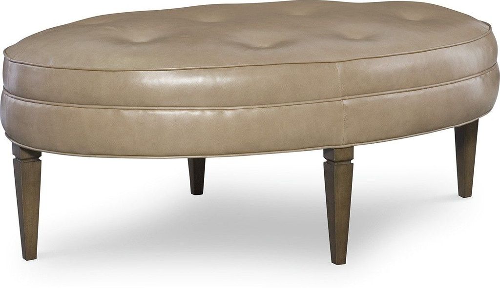 Cr Laine Living Room Leather Oval Ottoman L71 07 Bartlett Home