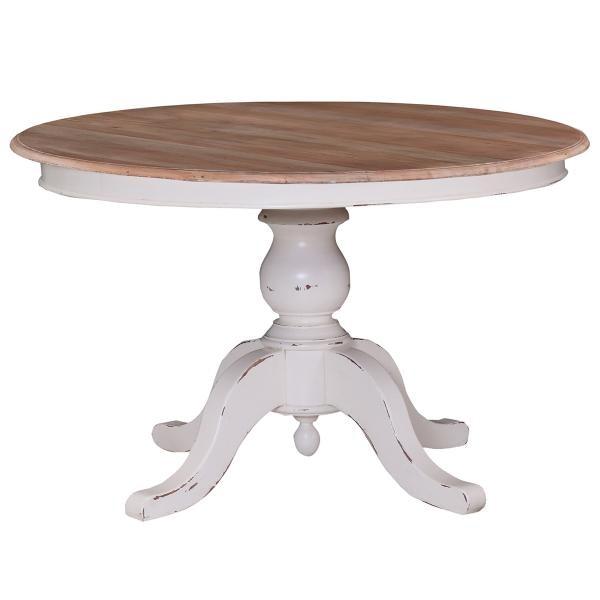 Bramble Farmhouse 4 Feet Round Pedestal Table 10889
