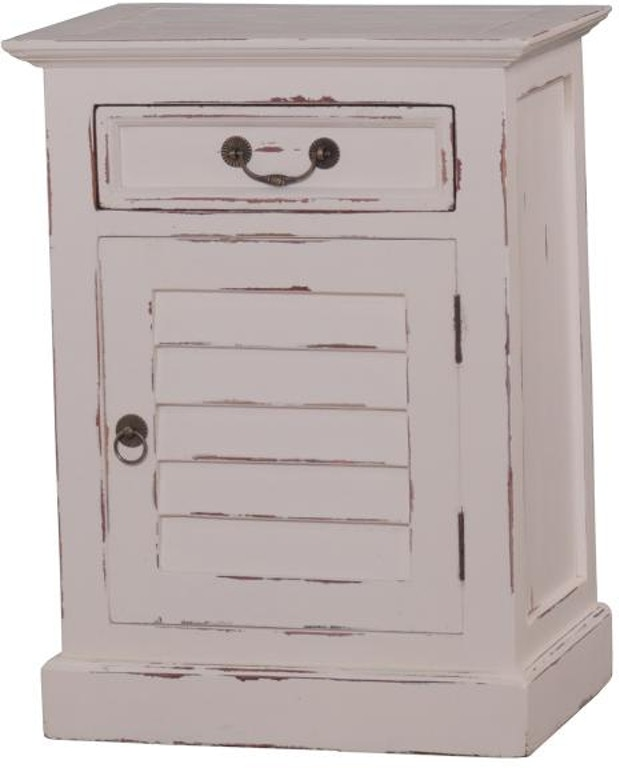 Bramble Bedroom Small Shutter Nightstand Cabinet 23496