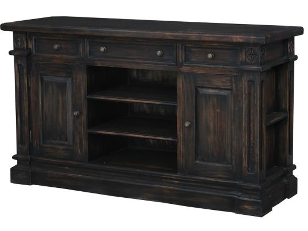 Bramble home entertainment roosevelt media sideboard 23687 for Home theater furniture louisville ky