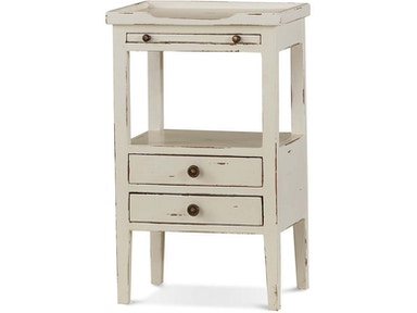 Bramble Living Room Eton 2 Drawer Side Table With Pull Out Shelf