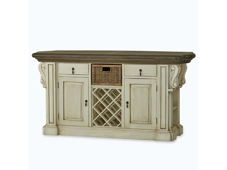 Bramble Roosevelt Kitchen Island With Corbels And Basket 24561 Tip Top Furniture Freehold Ny