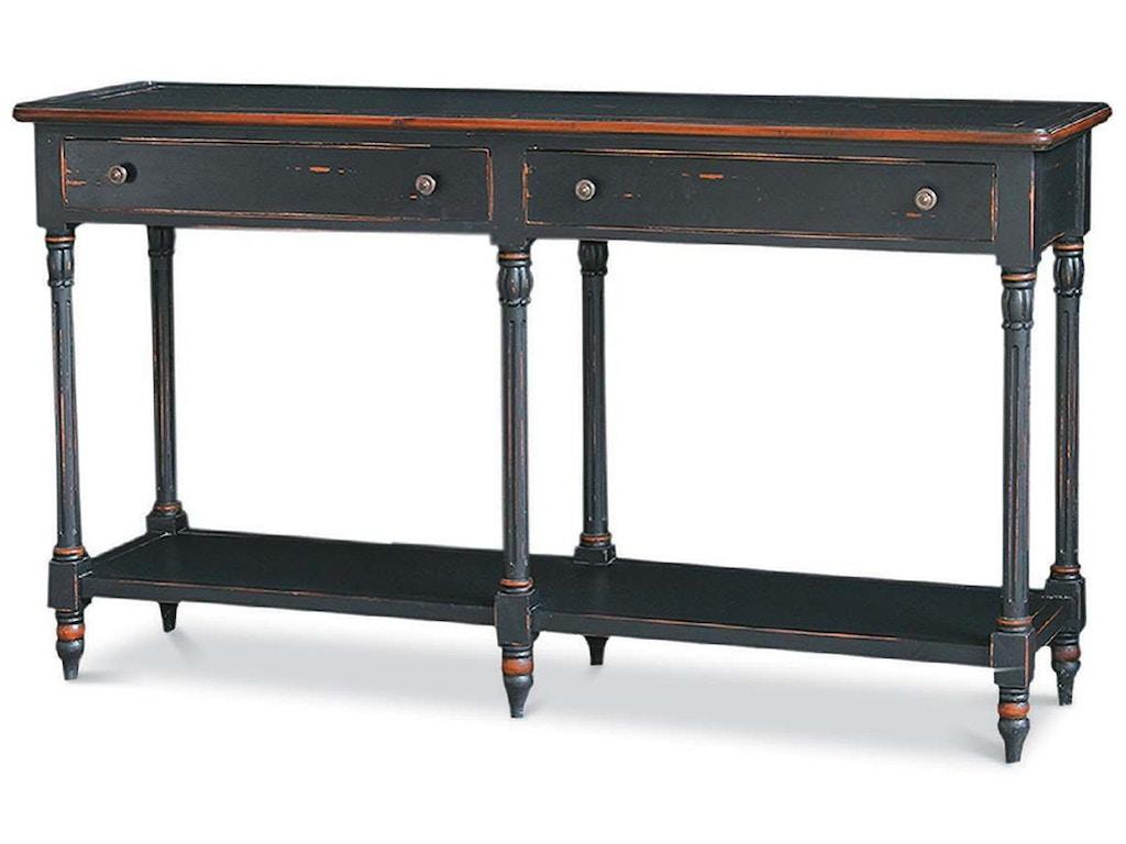 Bramble Living Room Edwardian 2 Drawer Console Table 24690 Indian River Furniture Rockledge FL