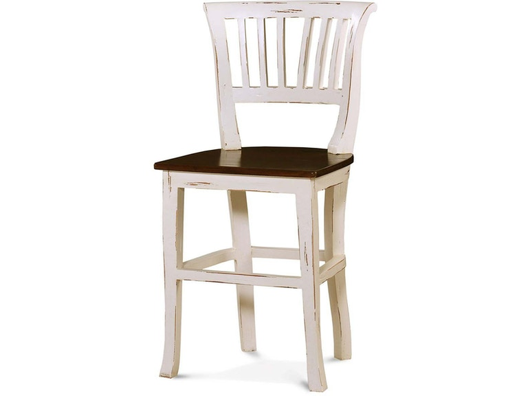Bramble Manchester Counter Stool With Wooden Seat 25587