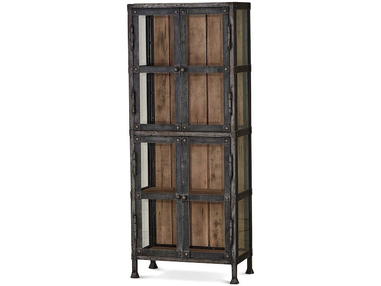Bramble dining room urban narrow cabinet with glass 25874 for Narrow dining room cabinet