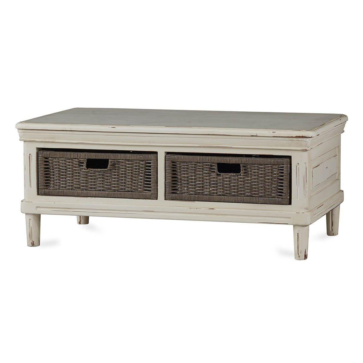 Bramble Hayward Coffee Table With Baskets 26560