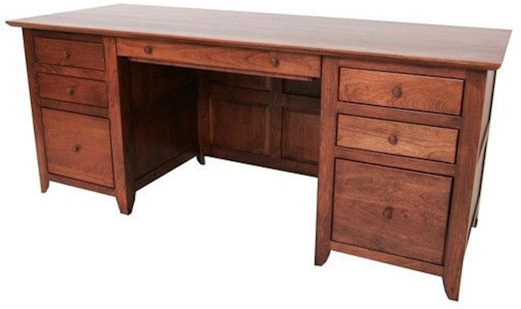Borkholder Furniture Home Office Austin Double Pedestal