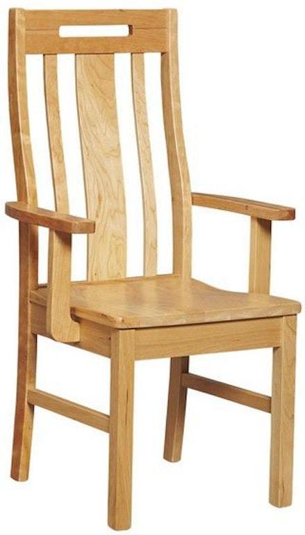 Borkholder Furniture Dining Room Transitions Handle Back Arm