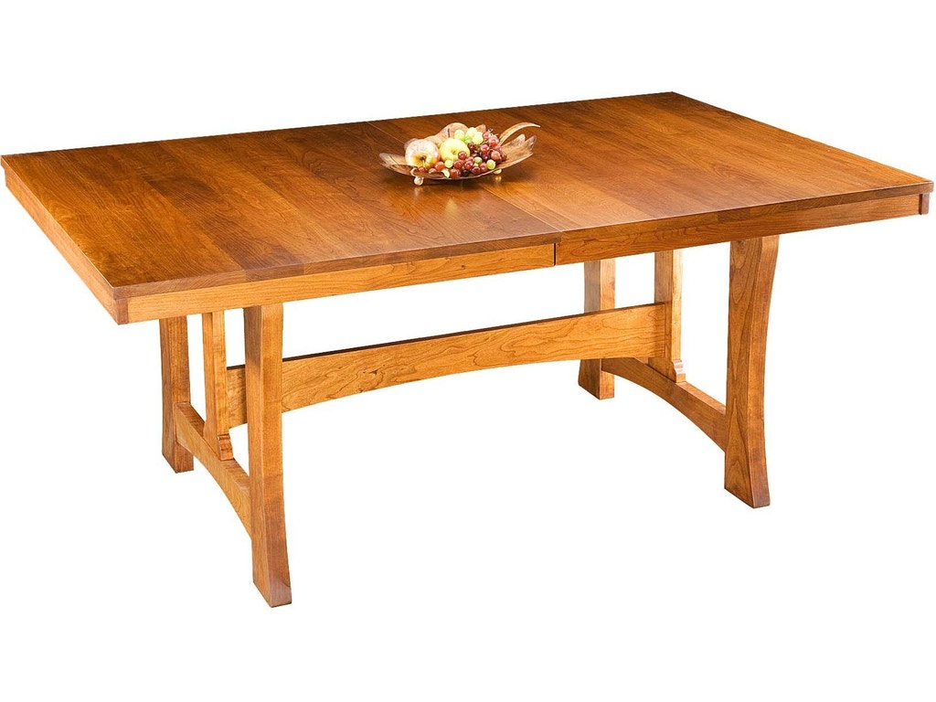 Small Mission Trestle Table With Two 18