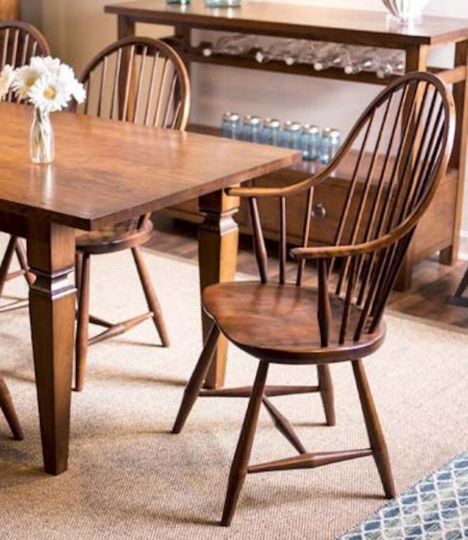 Gat Creek Dining Room Long Island Windsor Arm Chair 81056