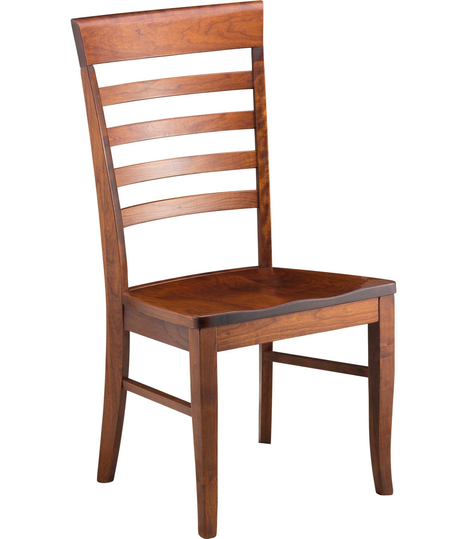 Gat Creek Burbank Side Chair With Wood Seat 81110