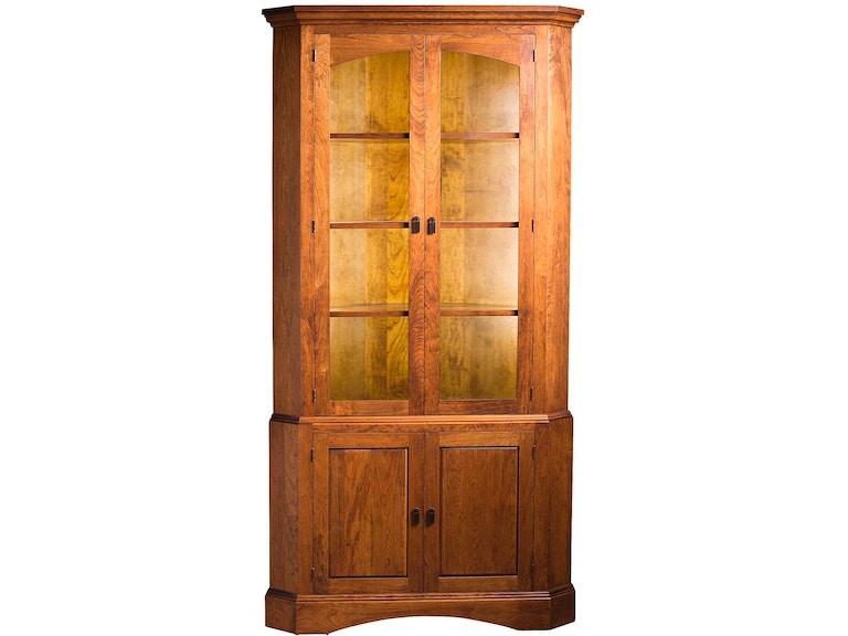 Gat Creek Dining Room Chase Corner Cabinet 81330 | Hickory ...