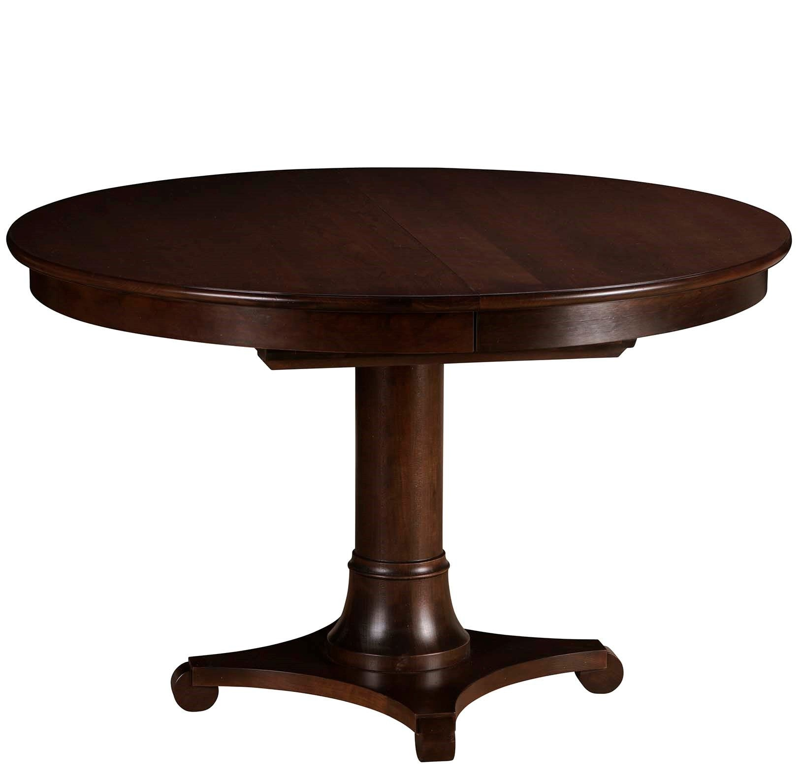 Gat Creek Dining Room Meyer 48 Round Pedestal Table With One 18