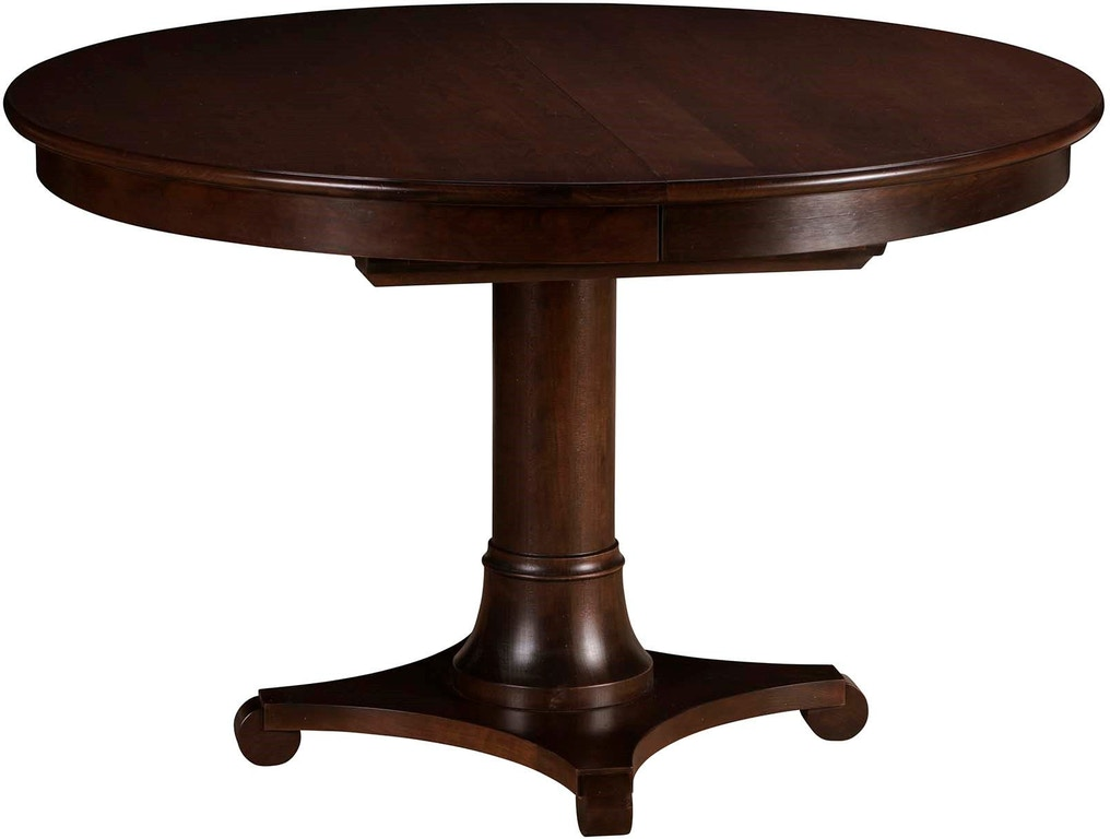 Gat Creek Dining Room Meyer 48 Round Pedestal Table With One 18 Leaf 81771 Warehouse Showrooms