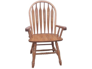 Tennessee Enterprises Colonial Windsor Bowback Arm Chair 3126H