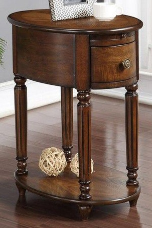 Tennessee Enterprises Chair Side Table With Power Outlet 7947BW