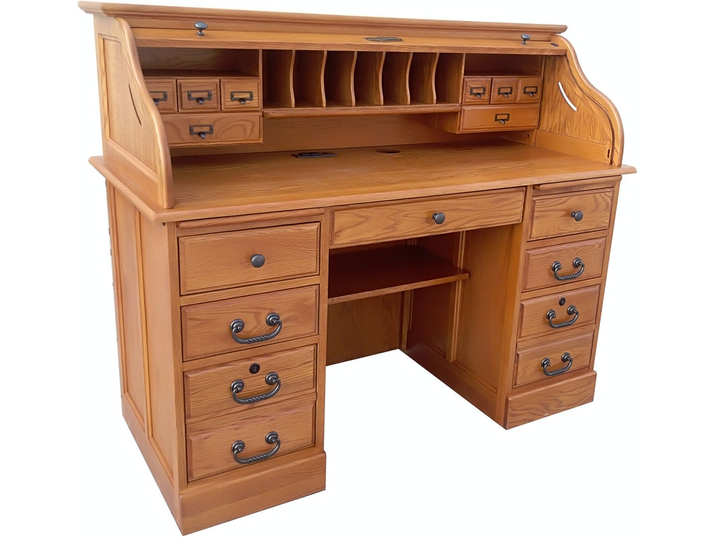 Home Office Furniture Michigan: Tennessee Enterprises Home Office 54 Inches Roll Top Desk
