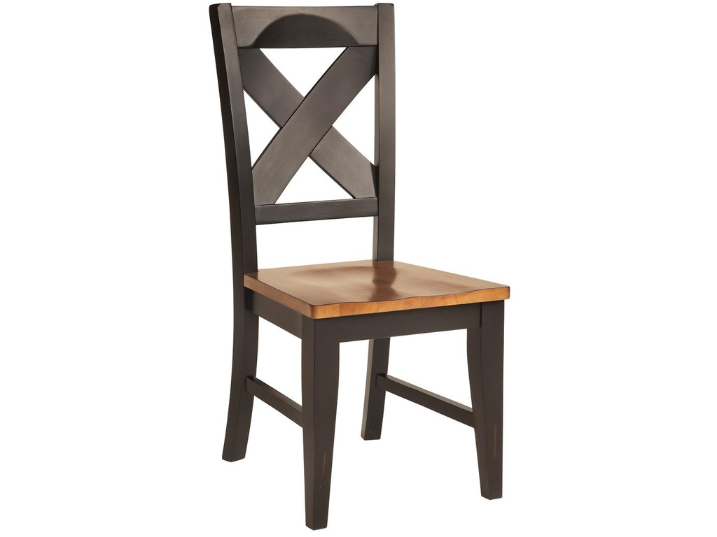 Tennessee enterprises dining room quinton x back side for X back dining room chairs