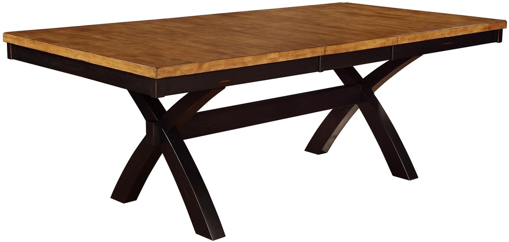 Tennessee Enterprises Dining Room Quinton 30 Inches Height Extension X Legs Tables Qt4284pb