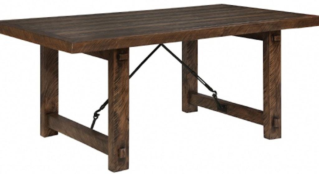 Tennessee Enterprises Dining Room Rustic Lodge Table