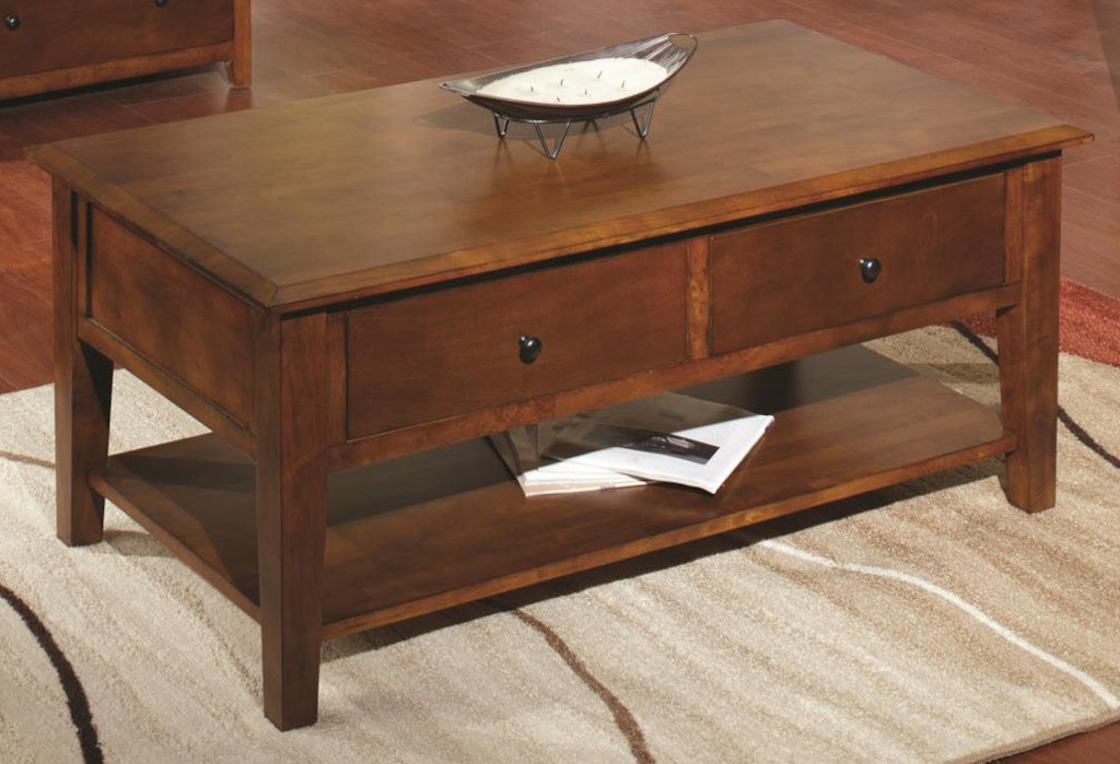 Tennessee Enterprises Living Room St Michael Coffee Table Sm4826tb Hennen Furniture St Cloud
