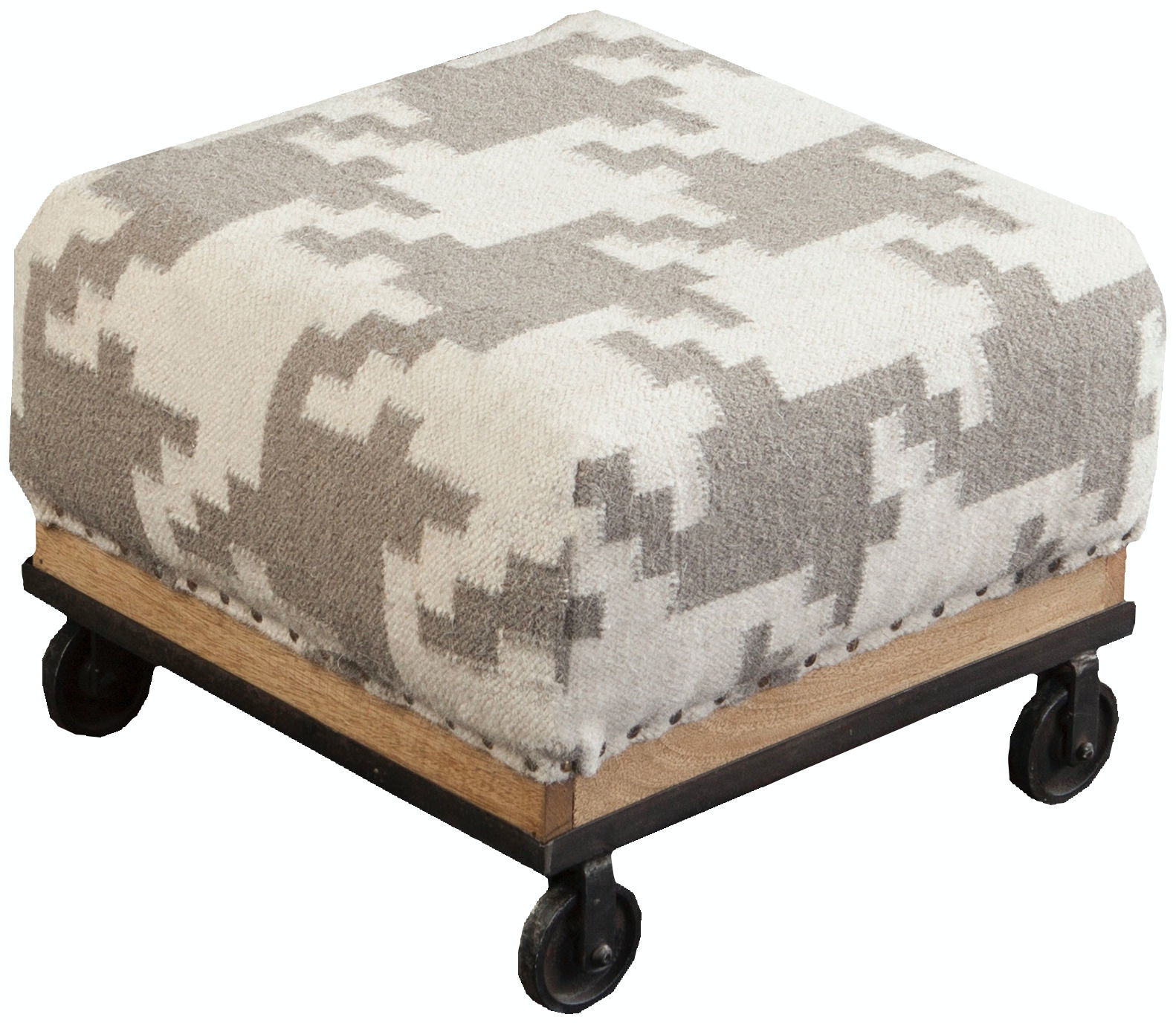 Surya Furniture 16.8 X 16.8 X 11.6 Foot Stool FL1166 424229