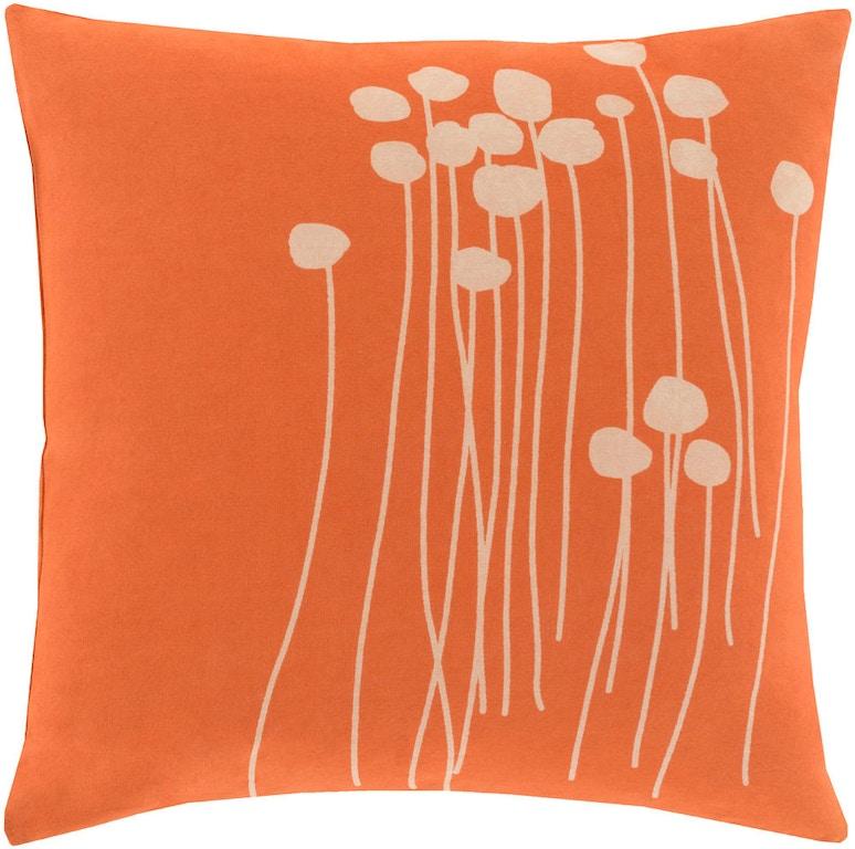 Surya Accessories Decorative Pillows 40 X 40 Pillow LJA404040D Delectable Bright Orange Decorative Pillows
