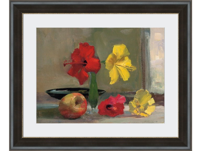 Yellow Hibiscus with Apple - 22\