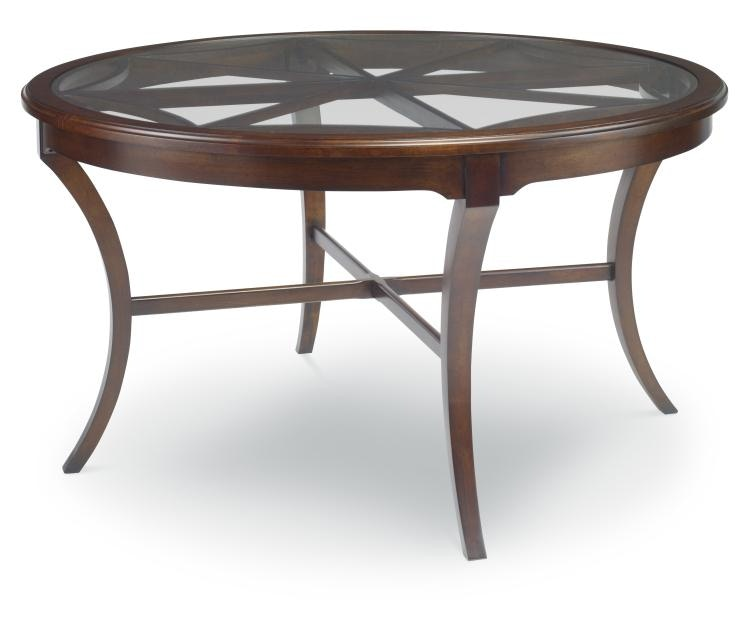 HH19 301. Virginia Round Glass Top Table