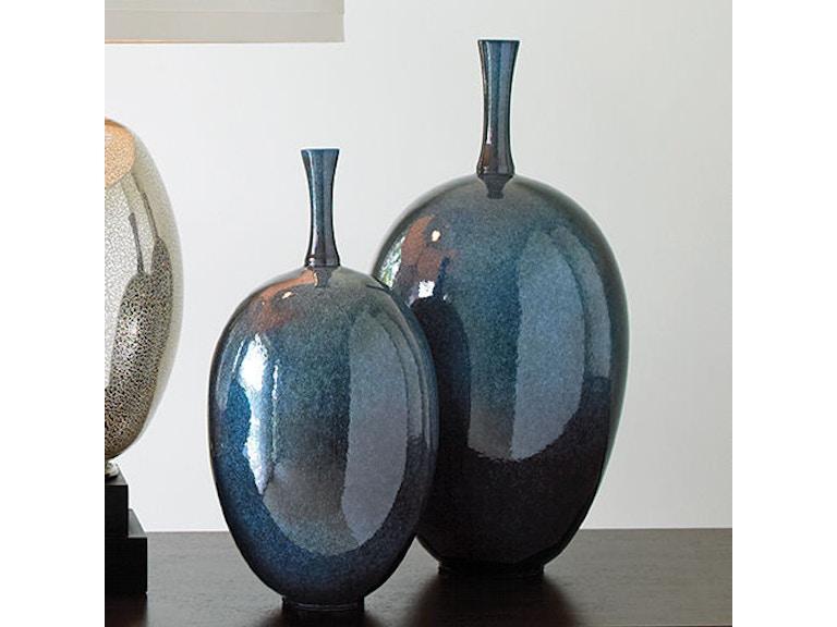 Global Views Accessories Ovoid Vase Celestial Lg 110048 Habegger