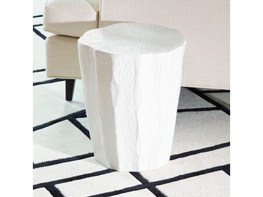 Global Views Trunk Stool-White 1.10458