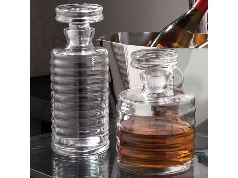 Global Views Accessories Ribbed Decanter-Tall 1608 - Alyson