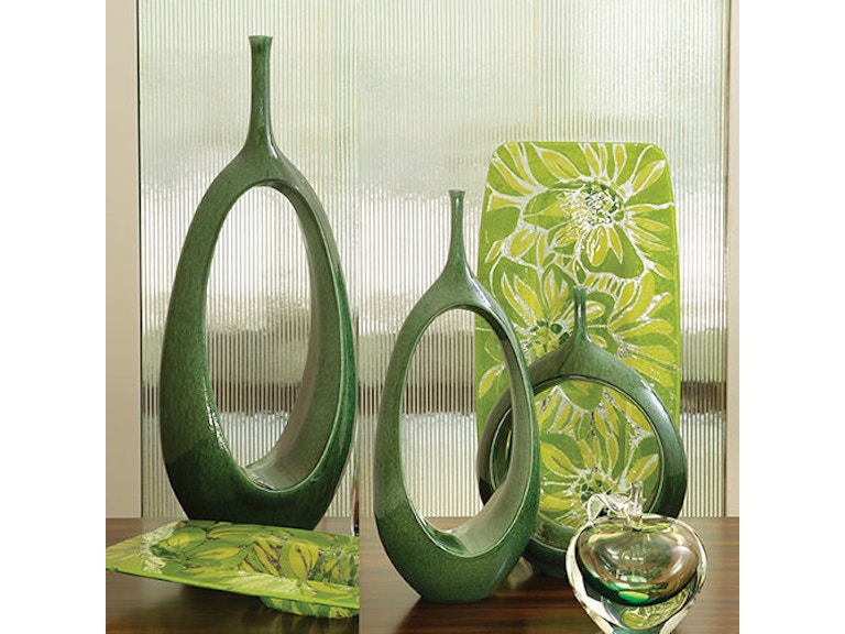 Global Views 1902 Accessories Open Oval Ring Vase Emerald Med