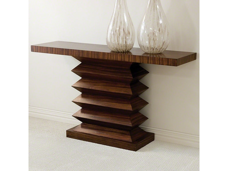 Global Views 2262 Living Room Zig Zag Console Table