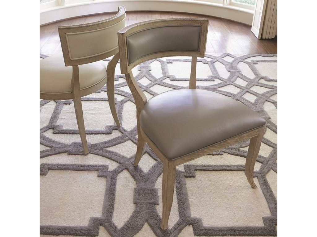 Global Views Dining Room Klismos Chair Grey Leather 2426 Bacons Furniture Port Charlotte Fl